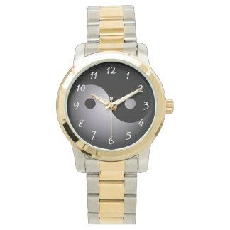 Yin yang black and white wristwatches