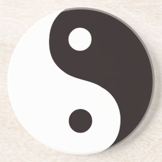 Yin-Yang-Black/White Beverage Coaster
