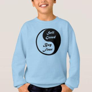 Yin & Yang - Black & White: Buy Fear, Sell Greed Sweatshirt