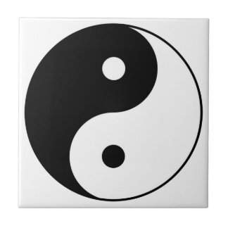 yin yang black white symbol tile