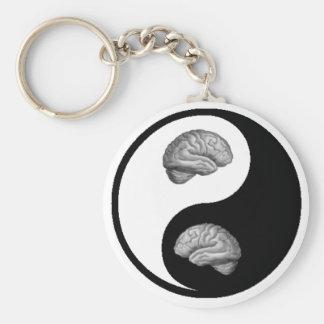 Yin Yang Brain Keychain