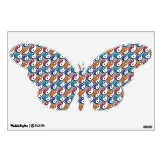 yin-yang butterfly wall decal