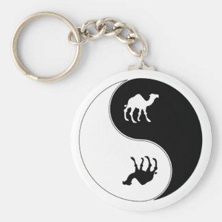 Yin Yang Camel Keychain