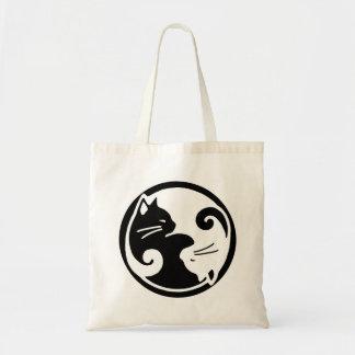 Yin Yang Cat Budget Tote Bag