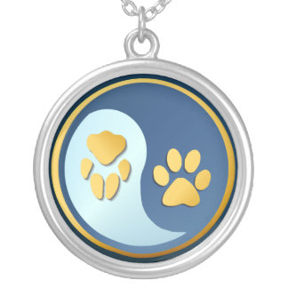 Yin Yang Cat-Dog Paws  Necklace