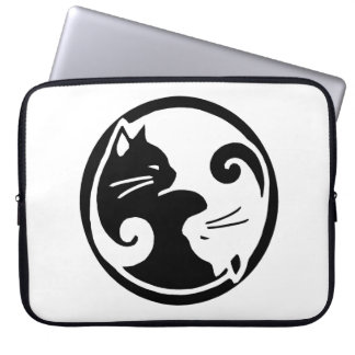 "Yin Yang Cats 15"" Laptop Sleeve"