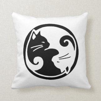 """Yin Yang Cats 16x16"""" Throw Pillow"""