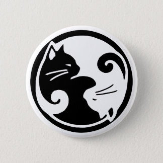 Yin Yang Cats 2 Inch Round Button