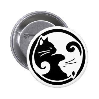 Yin Yang Cats 2 Inch Round Button