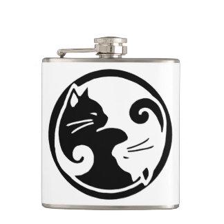 Yin Yang Cats Flask