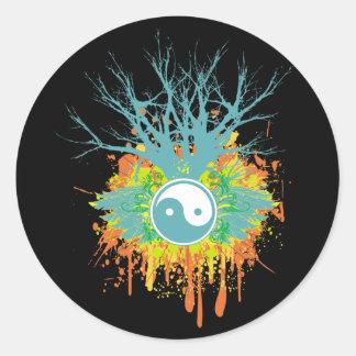 Yin Yang Chaos Classic Round Sticker