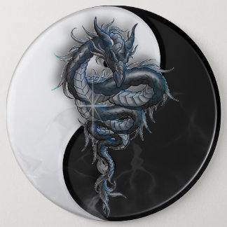 Yin Yang Chinese Dragon Colossal 6 Inch Badge 6 Inch Round Button