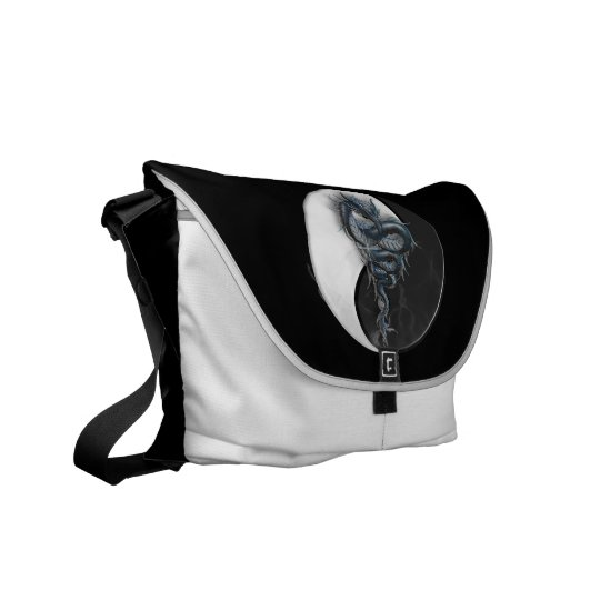 Yin Yang Chinese Dragon Rickshaw Messenger Bag