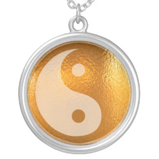 YIN YANG -  Chinese symbol of luck n balance Silver Plated Necklace