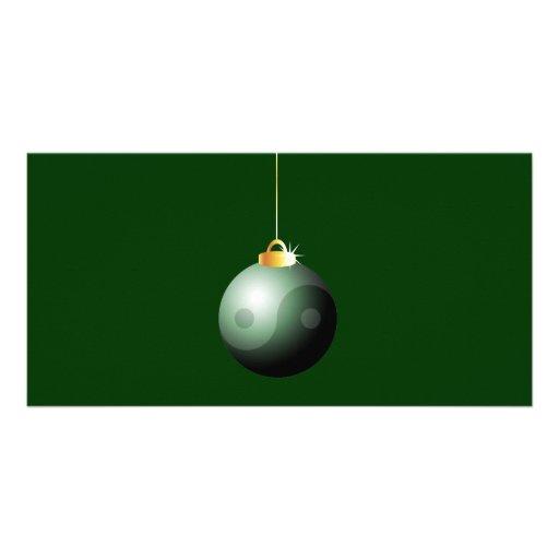 Yin Yang Christmas Ball Photo Greeting Card