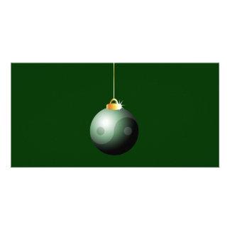 Yin Yang Christmas Ball Picture Card