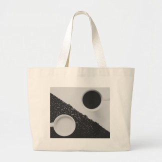Yin Yang coffe Large Tote Bag
