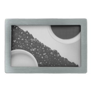 Yin Yang coffe Rectangular Belt Buckle