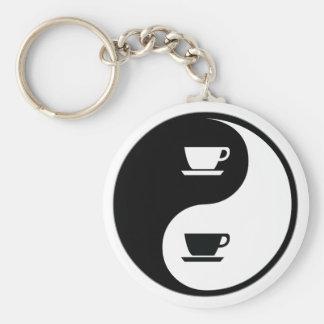 Yin Yang Coffee Keychain