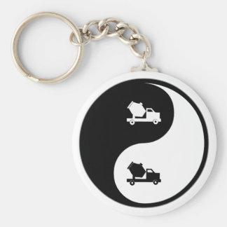 Yin Yang Concrete Keychain