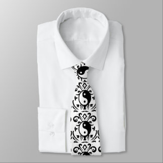 Yin Yang Damask Tie