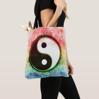 Yin Yang - Dawn Over The Green Iceland Tote Bag
