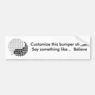 Yin Yang Design with a blended twist Bumper Sticker