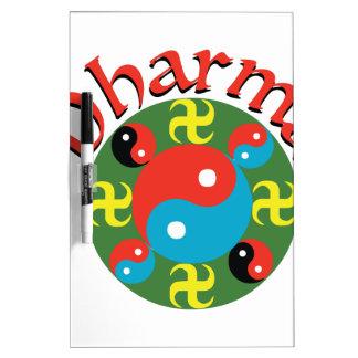 Yin Yang Dharma Dry Erase Board