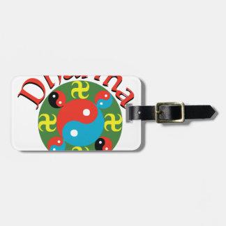 Yin Yang Dharma Luggage Tag