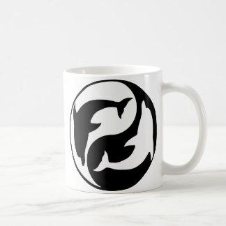 Yin Yang Dolphin Mug
