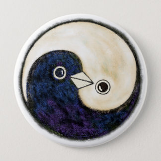 Yin Yang doves giant harmony badge 4 Inch Round Button