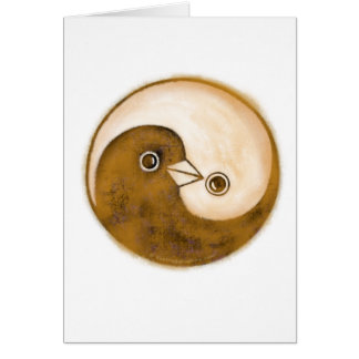 Yin Yang doves peace & harmony Greeting Card