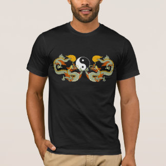 Yin Yang Dragon Black T-Shirt