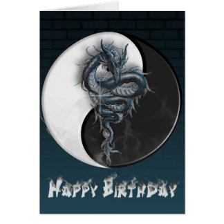 Yin Yang Dragon Card