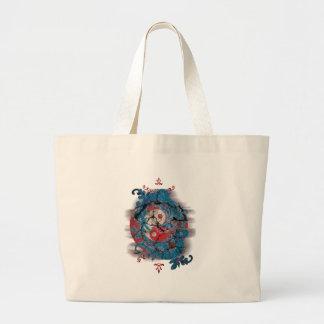 Yin Yang Dragon Life Large Tote Bag