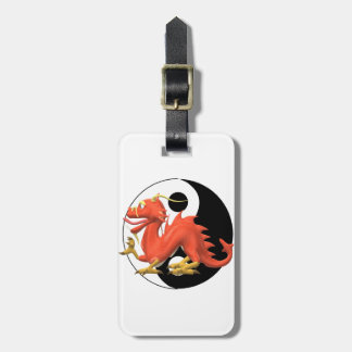 Yin Yang Dragon Luggage Tag