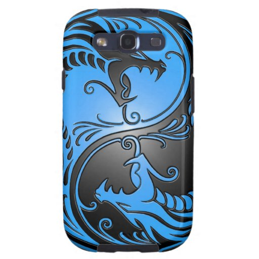 Yin Yang Dragons, blue and black Galaxy SIII Cover
