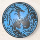 Yin Yang Dragons, blue and black Coaster