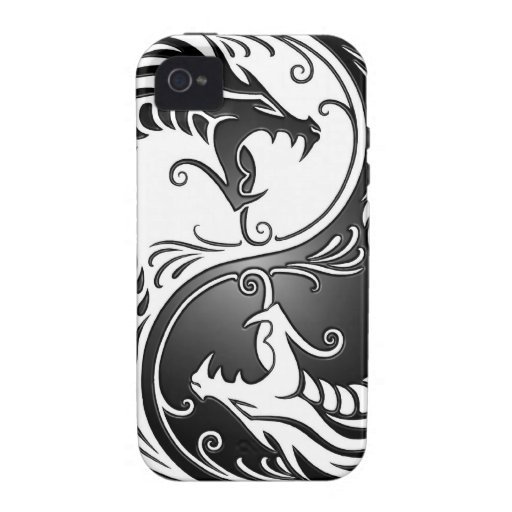 Yin Yang Dragons Vibe iPhone 4 Cases