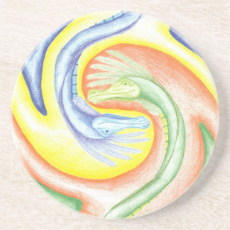 Yin-Yang Dragons Coaster