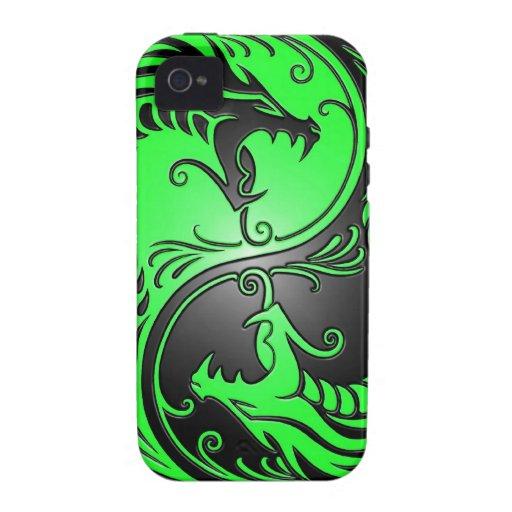 Yin Yang Dragons, green and black Vibe iPhone 4 Cover