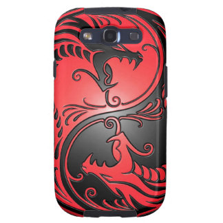 Yin Yang Dragons red and black Galaxy SIII Covers