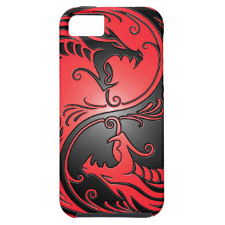 Yin Yang Dragons, red and black iPhone 5 Cover