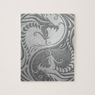 Yin Yang Dragons, stainless steel Jigsaw Puzzle