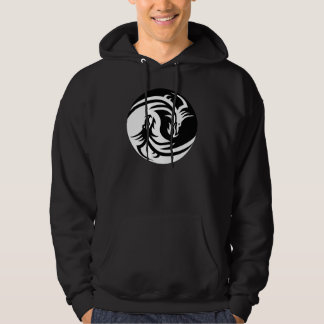 Yin Yang Dragons Tribal Tattoo Design Hoodie