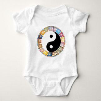 yin yang eastern asian philosophy baby bodysuit