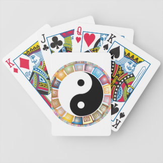 yin yang eastern asian philosophy bicycle playing cards