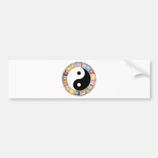yin yang eastern asian philosophy bumper sticker