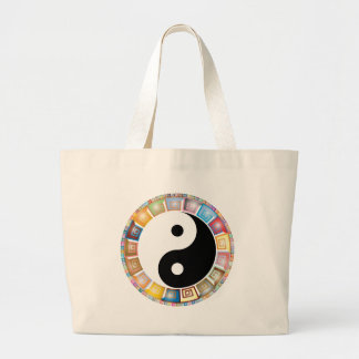 yin yang eastern asian philosophy large tote bag