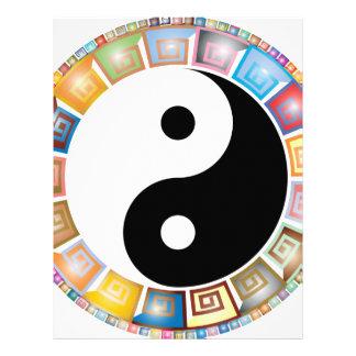 yin yang eastern asian philosophy letterhead